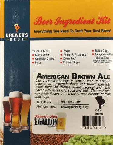 American Brown Ale Brewer's Best 1 Gallon Ingredient Kit