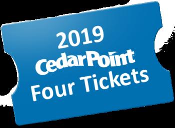 4 Cedar Point Admission Tickets