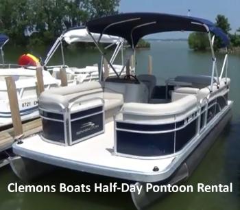Clemons Boats Half-Day Pontoon Rental